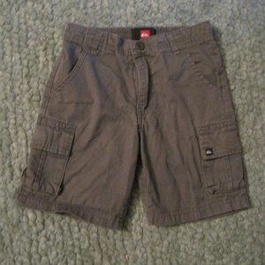 Toddler boy gray Quiksilver cargo shorts, size 4T